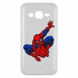 Чехол для Samsung J2 2015 Spiderman - FatLine