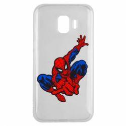 Чехол для Samsung J2 2018 Spiderman - FatLine