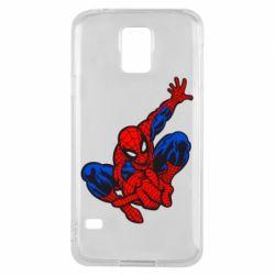 Чехол для Samsung S5 Spiderman - FatLine