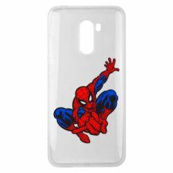 Чехол для Xiaomi Pocophone F1 Spiderman - FatLine