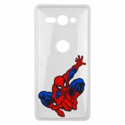 Чехол для Sony Xperia XZ2 Compact Spiderman - FatLine
