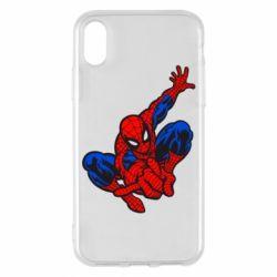 Чехол для iPhone X Spiderman - FatLine