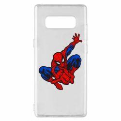 Чехол для Samsung Note 8 Spiderman - FatLine