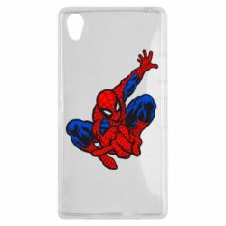 Чехол для Sony Xperia Z1 Spiderman - FatLine