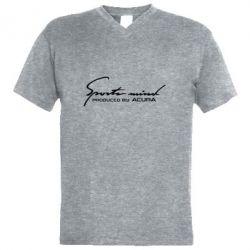 Чоловіча футболка з V-подібним вирізом Sport mini produced by acura