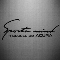 Наклейка Sport mini produced by acura