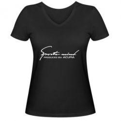 Жіноча футболка з V-подібним вирізом Sport mini produced by acura