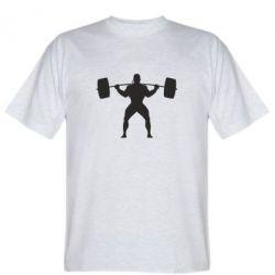 Мужская футболка Спортсмен со штангой - FatLine
