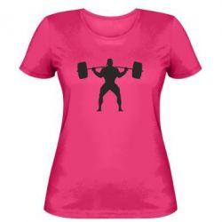 Женская футболка Спортсмен со штангой - FatLine