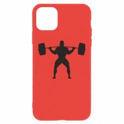 Чохол для iPhone 11 Спортсмен зі штангою