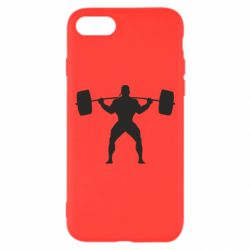 Чохол для iPhone 7 Спортсмен зі штангою