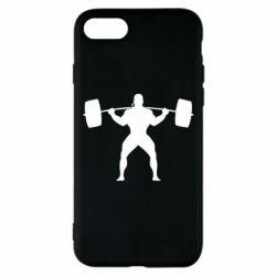 Чохол для iPhone 8 Спортсмен зі штангою