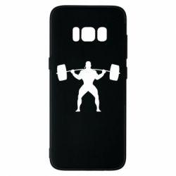 Чохол для Samsung S8 Спортсмен зі штангою