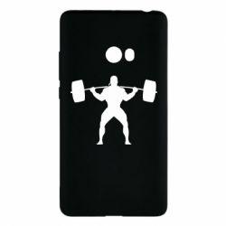 Чехол для Xiaomi Mi Note 2 Спортсмен со штангой