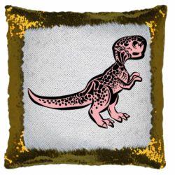 Подушка-хамелеон Spotted baby dinosaur
