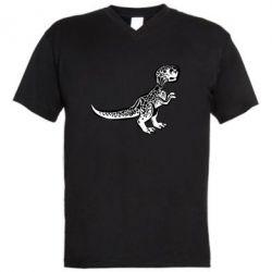 Чоловіча футболка з V-подібним вирізом Spotted baby dinosaur