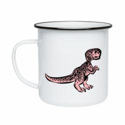 Кружка емальована Spotted baby dinosaur