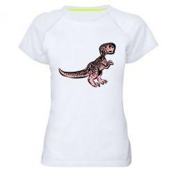 Жіноча спортивна футболка Spotted baby dinosaur