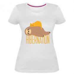 Жіноча стрейчева футболка Спячка