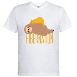 Чоловіча футболка з V-подібним вирізом Спячка