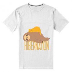 Чоловіча стрейчева футболка Спячка