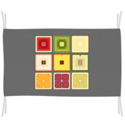 Прапор Square fruit in cut