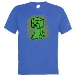 Мужская футболка  с V-образным вырезом Сreeper
