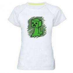 Женская спортивная футболка Сreeper