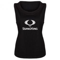 Женская майка SsangYong Logo - FatLine