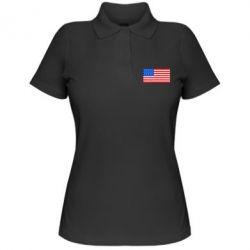 Женская футболка поло США - FatLine