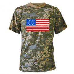 Камуфляжная футболка США - FatLine