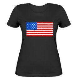 Женская футболка США - FatLine