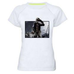 Жіноча спортивна футболка Stalker art