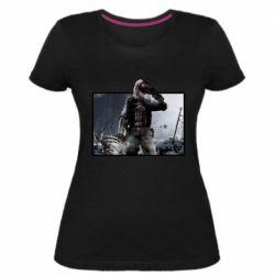 Жіноча стрейчева футболка Stalker art