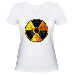 Женская футболка с V-образным вырезом Stalker Danger