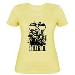 Женская футболка Stalker Logo - FatLine