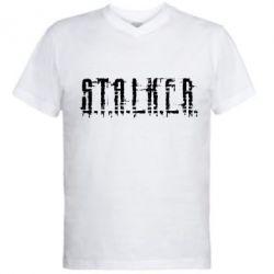 Мужская футболка  с V-образным вырезом Stalker Logotype