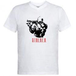 Мужская футболка  с V-образным вырезом Stalker - FatLine