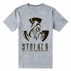 Купить Мужская стрейчевая футболка Сталкер, FatLine
