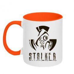 Кружка двоколірна Сталкер