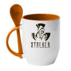 Купить Кружка с керамической ложкой Сталкер, FatLine