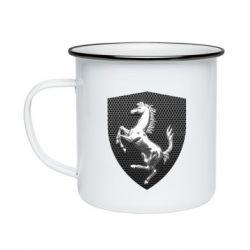 Кружка емальована Stallion metal