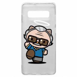 Чохол для Samsung S10+ Stan lee in hello kitty style