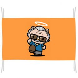 Прапор Stan lee in hello kitty style