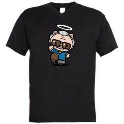 Чоловіча футболка з V-подібним вирізом Stan lee in hello kitty style