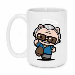 Кружка 420ml Stan lee in hello kitty style