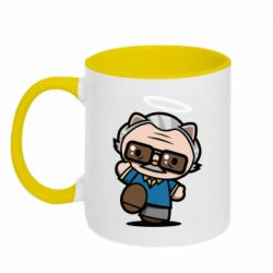 Кружка двоколірна 320ml Stan lee in hello kitty style