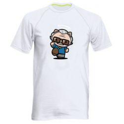 Чоловіча спортивна футболка Stan lee in hello kitty style