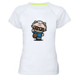 Жіноча спортивна футболка Stan lee in hello kitty style