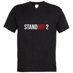 Мужская футболка  с V-образным вырезом Standoff 2 logo